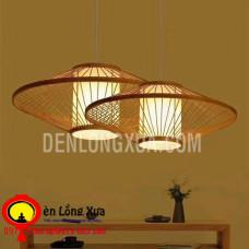 Đèn tre đan đĩa bay kiểu nhật