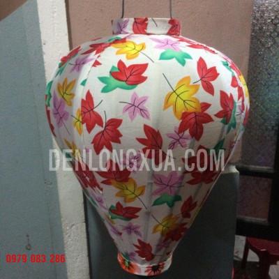 Đèn lồng tỏi vải hoa kiểu Lá phong
