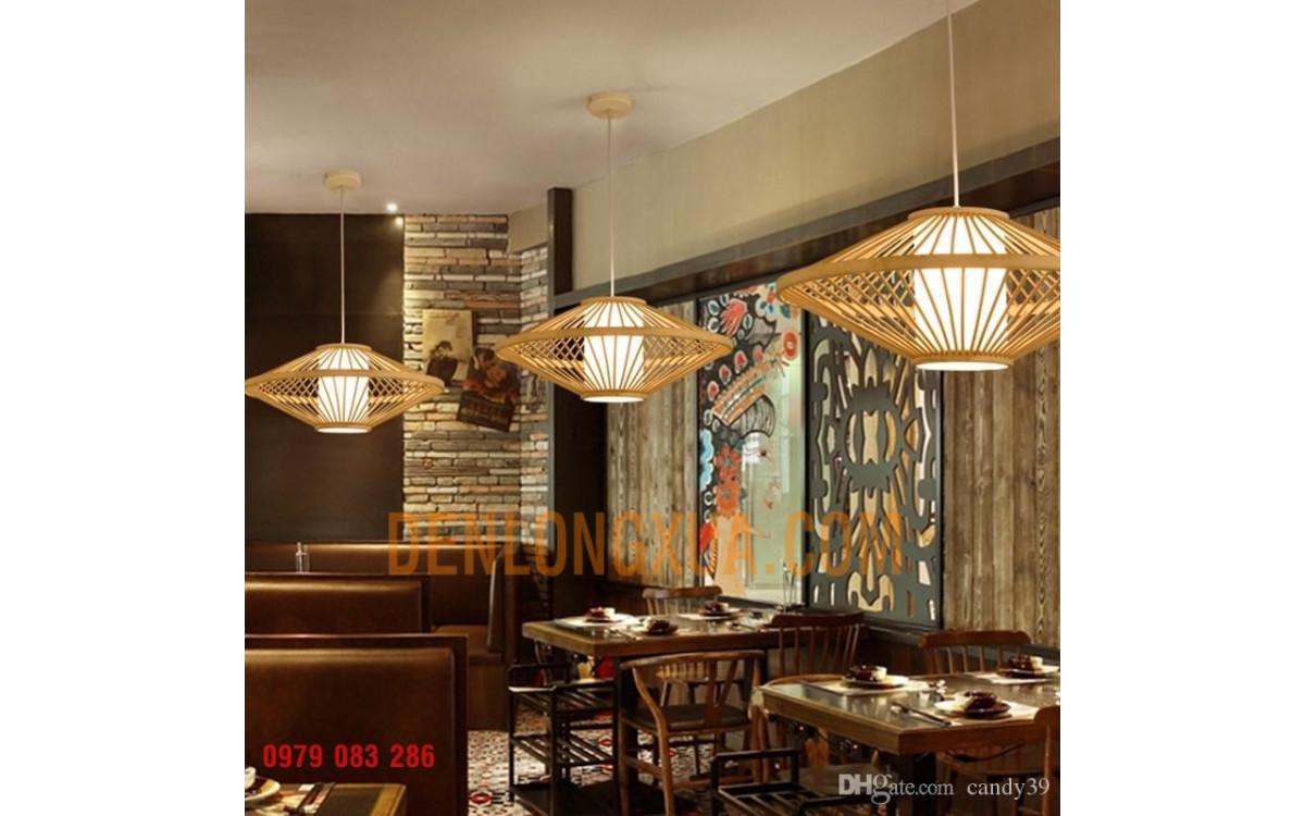 Đèn tre đĩa bay trang trí nhà hàng đẹp