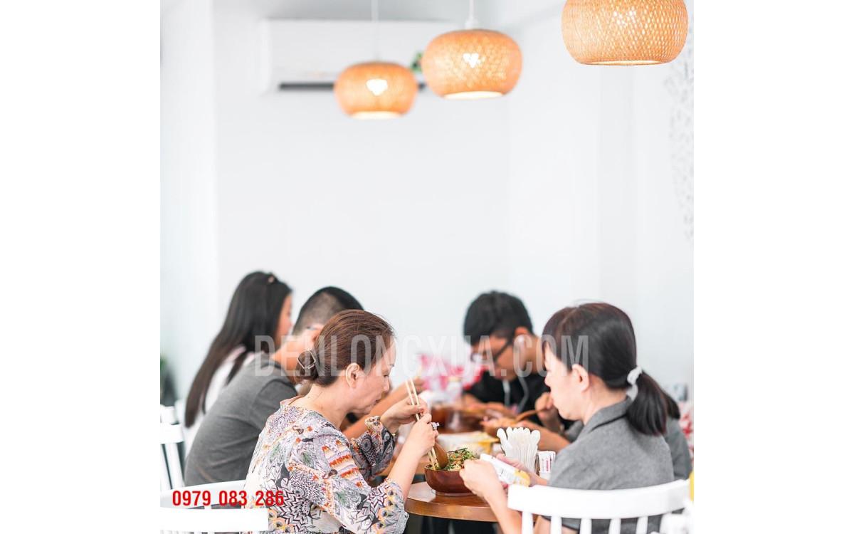 Đèn tre trang trí nhà hàng quán ăn đẹp