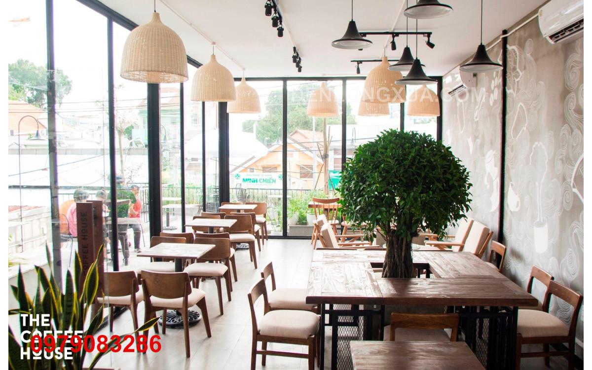Đèn chuông mây trong không gian trang trí nhà hàng hiện đại